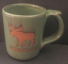 Adirondacks Moose Pottery Coffee Mug Cup Olive Green Rustic Mountain Country Mugs For Men, Mug Cup, Olive Green, Moose, Madness, Coffee Mugs, Mountain, Collections, Pottery