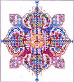 Celtic Flower: A Cross Stitch Chart by Vickery Collection Celtic Cross Stitch, Just Cross Stitch, Cross Stitch Samplers, Cross Stitch Kits, Cross Stitch Charts, Cross Stitch Designs, Cross Stitching, Cross Stitch Embroidery, Embroidery Patterns