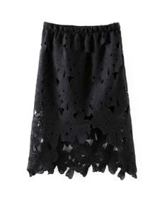 Sexy Style Lace Mesh Pencil Skirt