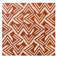 10 revetements graphiques Carreaux Tribal 1 en mosaïque de fibre de bois, Renata Rubim (Oca Brasil)