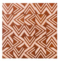 Carreaux Tribal 1 en mosaïque de fibre de bois, Renata Rubim (Oca Brasil)