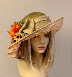M99 Black  Wool Cashmere Cute Bow Brim Fedora Bucket Hat Cap Church Dress