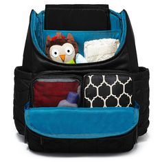 The Ultimate hands-free Diaper Bag! Skip Hop lightweight, quilted Backpack offers hands-free convenience and special packing cubes for baby's essentials. Boy Diaper Bags, Black Diaper Bag, Diaper Bag Backpack, Insulated Siding, Free Diapers, Black Shoulder Bag, Changing Pad, Black Backpack, Baby Items
