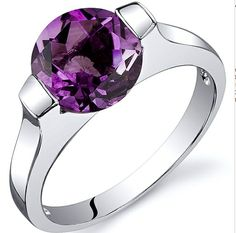 '1.75 CT Genuine Amethyst .925 Silver Ring Size 5-9' is going up for auction at  1am Fri, Aug 17 with a starting bid of $3.