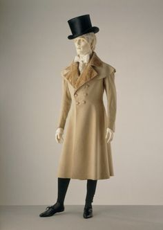 1820s in fashion | Frock coat ca. 1820-1830 via The Victoria Albert Museum