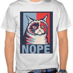 Nope cat tee - animal t-shirt - artsivaris