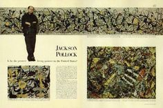 Spread from the Pollock article in Life Magazine