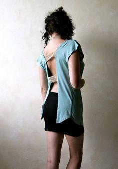 Sexy+top+women+blouse+short+sleeve+tshirt+tunic+top+by+LoreTree,+€45.00