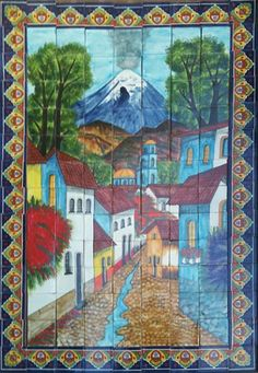 #Mexican #Mural:                                                          Idea:  Lay 5 or 6 boards side by side and paint a landscape of my own