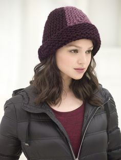 Image of Mitered Hat http://www.lionbrand.com/patterns/L30041.html?noImages=