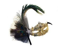Janelle Peacock Feather Bejeweled Decorated by SuccessCreations