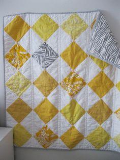 Lemon Sorbet Baby Quilt by RobotMomSews on Etsy, $85.00