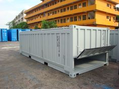 The Royal Wolf line of half-height shipping containers has been specially designed and engineered to carry heavy/dense cargo. Container Dimensions, Outdoor Furniture, Outdoor Decor, Shipping Containers, House Plans, Backyard, Australia, Wolf, Storage