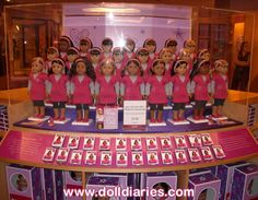 American girl dolls at the American girl doll store. Love it!