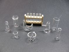 1:12 MINIATURE Dollhouse Doll House Laboratory Chemistry Beaker Flask Lab Glass #BrightdeLights