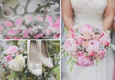 pale pink grey and teal wedding   Halley and Mike's Wedding