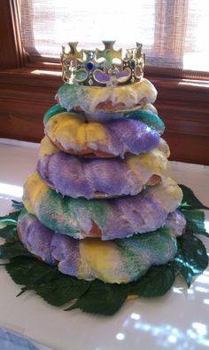 The perfect kingcake cake.  Ambrosia Bakery, Baton Rouge, LA.