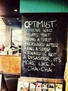 seeing life as an optimist! xx kathi