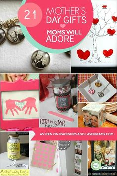 21 DIY Mother's Day Gift Ideas Diy Mothers Day Gifts, Happy Mothers Day, Mother Gifts, Gifts For Mom, Diy Crafts For Kids, Crafts To Sell, Homemade Gifts, Diy Gifts, Footprint Crafts