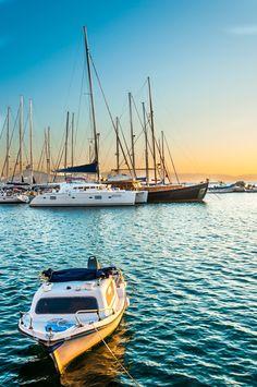 Naxos harbour sunset - Greece