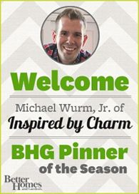 We're excited to announce that Michael Wurm, Jr. of Inspired by Charm is our October Pinner of the Month! Best Blogs, Fun Blogs, Inspired By Charm, Diy Arts And Crafts, Paper Crafts, Happy Fall Y'all, Kinds Of People, Helpful Hints, Handy Tips