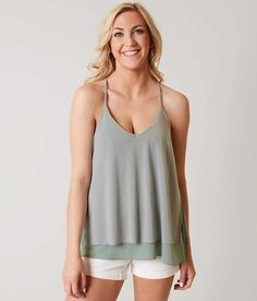 red by BKE Layered Tank Top - Women's Tank Tops in Slate Grey | Buckle