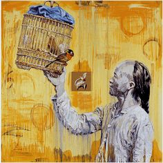 Hung Liu was born in Changchun, People's Republic, China, in 1948, and immigrated to the United States in 1984.