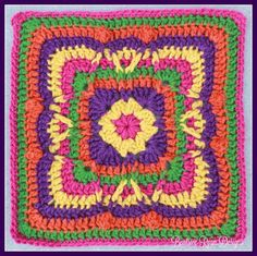 Festival of Fall Square Free Crochet Pattern