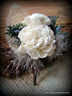 Sola Flower Wedding Boutonnieres by TheBackyardGardener on Etsy