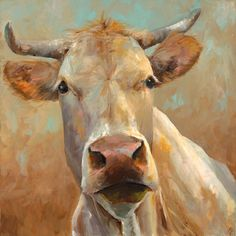 Cow Painting -Bernice - giclee print of an original painting on fine art paper by Cari Humphry Canvas Wall Art, Canvas Prints, Cow Canvas, Art Prints, Cow Pictures, Cow Painting, Farm Art, Cow Art, Western Art