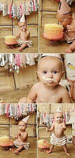 kids / children / baby photography idea / first birthday / 1 year Birthday Cake Smash, First Birthday Cakes, Baby Birthday, First Birthday Parties, First Birthdays, Baby Pictures, Baby Photos, 1st Birthday Photos, Birthday Ideas