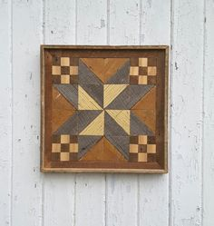 Reclaimed Wood Wall Art  Triangles  Wood Quilt by PastReclaimed