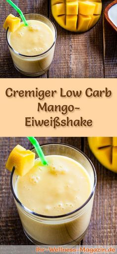 Mango-Eiweißshake – Low-Carb-Eiweiß-Diät-Rezept Make mango protein shake yourself – a healthy low carb diet recipe for breakfast smoothies and protein shakes to lose weight – no added sugar, low in calories, healthy … Low Carb Protein Shakes, Protein Shake Recipes, Healthy Shakes, Low Carb Smoothies, Breakfast Smoothies, Breakfast Healthy, Breakfast Ideas, Calories, Low Carb Diet