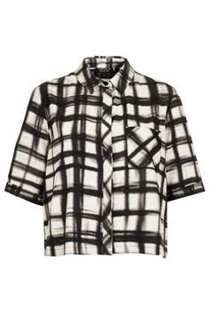 Monochrome Check Print Shirt. I have this with my leather skirt is great for work if I'm heading out straight after.