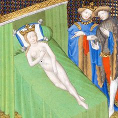 Wife of Candaules, Boccaccio, Des cas des nobles..., Paris ca. 1410 (Bibl. de…