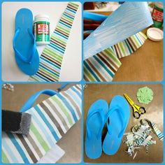 Dollar Store Crafts » Blog Archive » How to Mod Podge your Flip Flops
