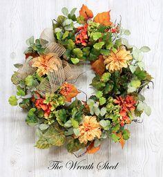 Summer Wreath for Front Door, Summer Wreath, Farmhouse Wreath, Fall Wreaths, Front Door Wreath, Farmhouse Decor, Fall Wreath for Front Door