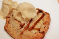 Cheese Platter Pie - Hazelnut and Balsamic Pear Galette with Goat's Cheese Ice Cream