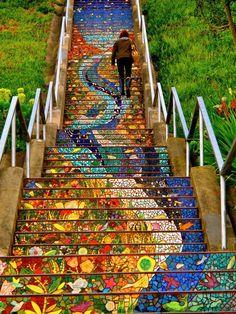 The Secret Mosaic Staircase, San Francisco !