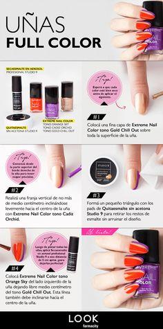 Uñas full color, un paso a paso para que tus uñas queden perfectas. #LookFarmacity