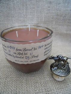 Blanton Bourbon Whiskey Upcycled 3 wick candle by VinoScentCandles @awater17