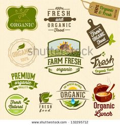 Set of Fresh Organic Labels and Elements by pulsar75, via Shutterstock