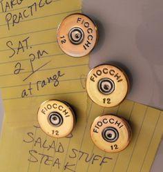Magnets Shotgun Shell Magnets set of 4 by BullsEyeMercantile