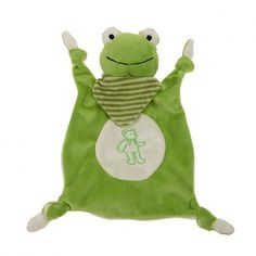 plush comfort blanket toy for babies.  This soft toy is a must have for little babies !  Perfect as a baby gift idea and for a baby shower.  The frog comfort blanket comes with its own wooden presentation box #babygiftidea  #cadeauoriginal