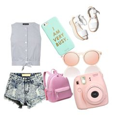 """Untitled #5"" by mili-1995-mili on Polyvore featuring Warehouse, Paloma Barceló, Fujifilm and ban.do"