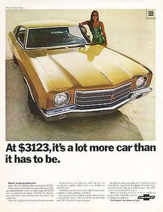 Shirt Original Chevrolet Chevy Monte Carlo 1974 1987 Spezial Muscle US Car T