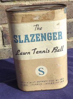Vintage Tennis Balls Slazenger Tennis Ball Can by SportingAntiques, £75.00