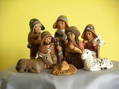 "Peruvian Nativity Set, 3.5"" tall"