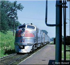 The Burlington's Pioneer Zephyr. Shiny Locomotive you have here.