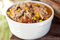 Clean Eating Slow Cooker Southwestern 2 Bean Chicken    I love crockpot dinners- perfect for a busy schedule.  We had enough for dinner and lunch for a couple days during the week!